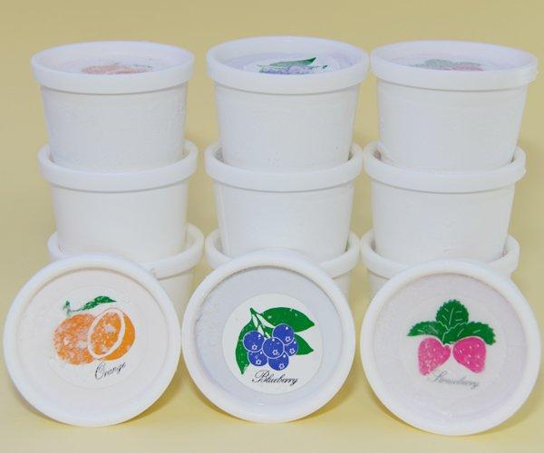 画像1: シャーベット3種セット (オレンジ,ブルーベリー,ストロベリー各4個入) (1)