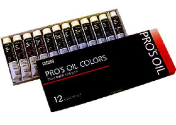 画像1: 油絵具 プロスオイルカラー12色セット  (1)