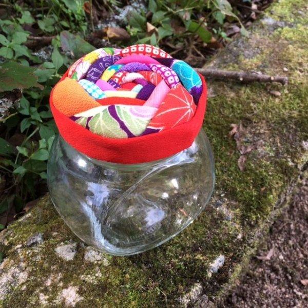 画像1: 布花の瓶-M1 (1)