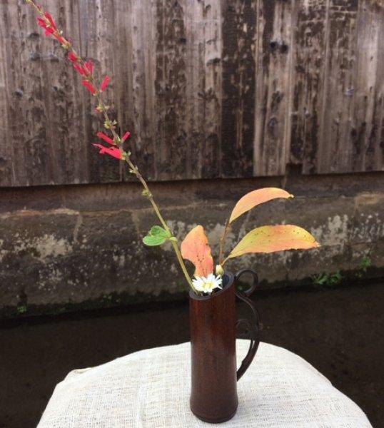 画像1: 竹細工の花器 あかり (1)