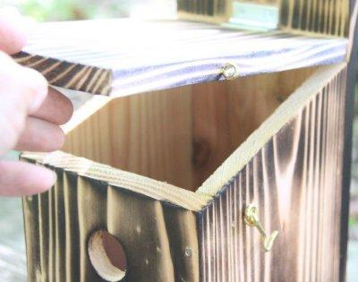 画像1: [予約]小鳥巣箱(片屋根タイプ)完成品