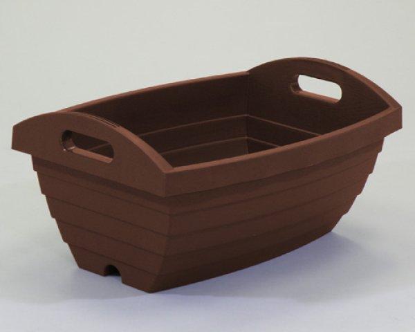 画像1: リサイクルプランターハンディ450丸樽型 (1)