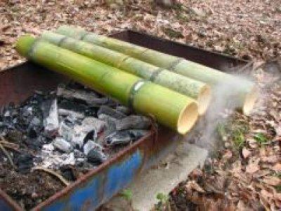 画像1: 竹飯ごう用竹(蓋加工無し)