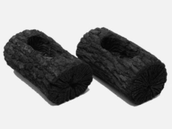 画像1: くぬぎ横穴あき炭15cm (1)
